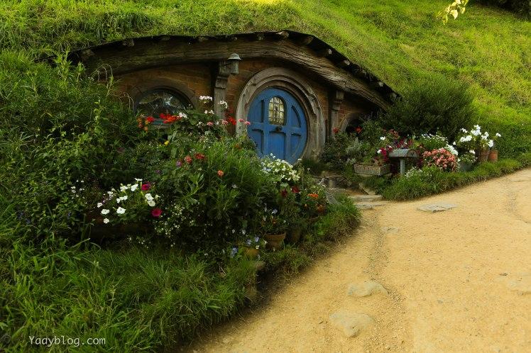 blue door hobbit home