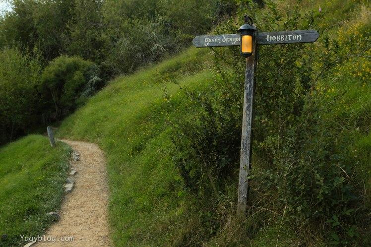 Green Dragon and Hobbiton sign