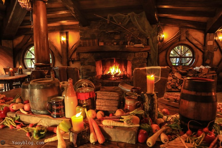 Food banquet at Hobbiton
