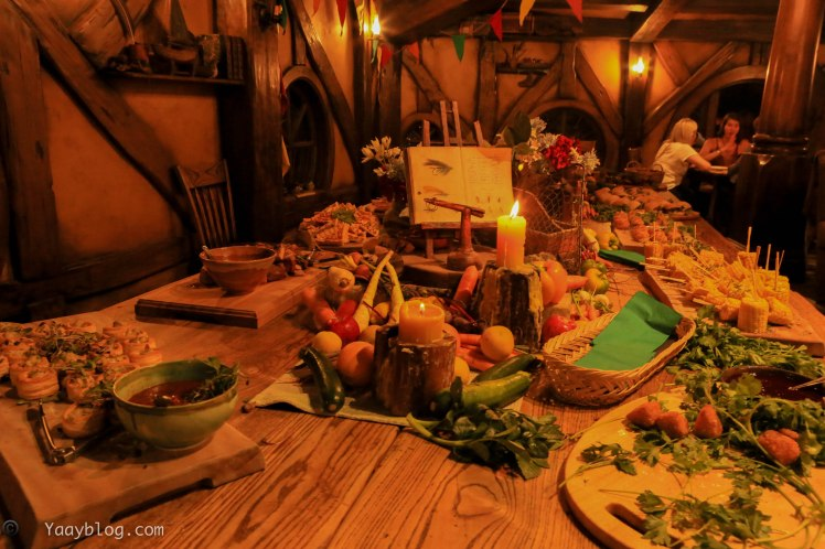 table spread at Hobbiton